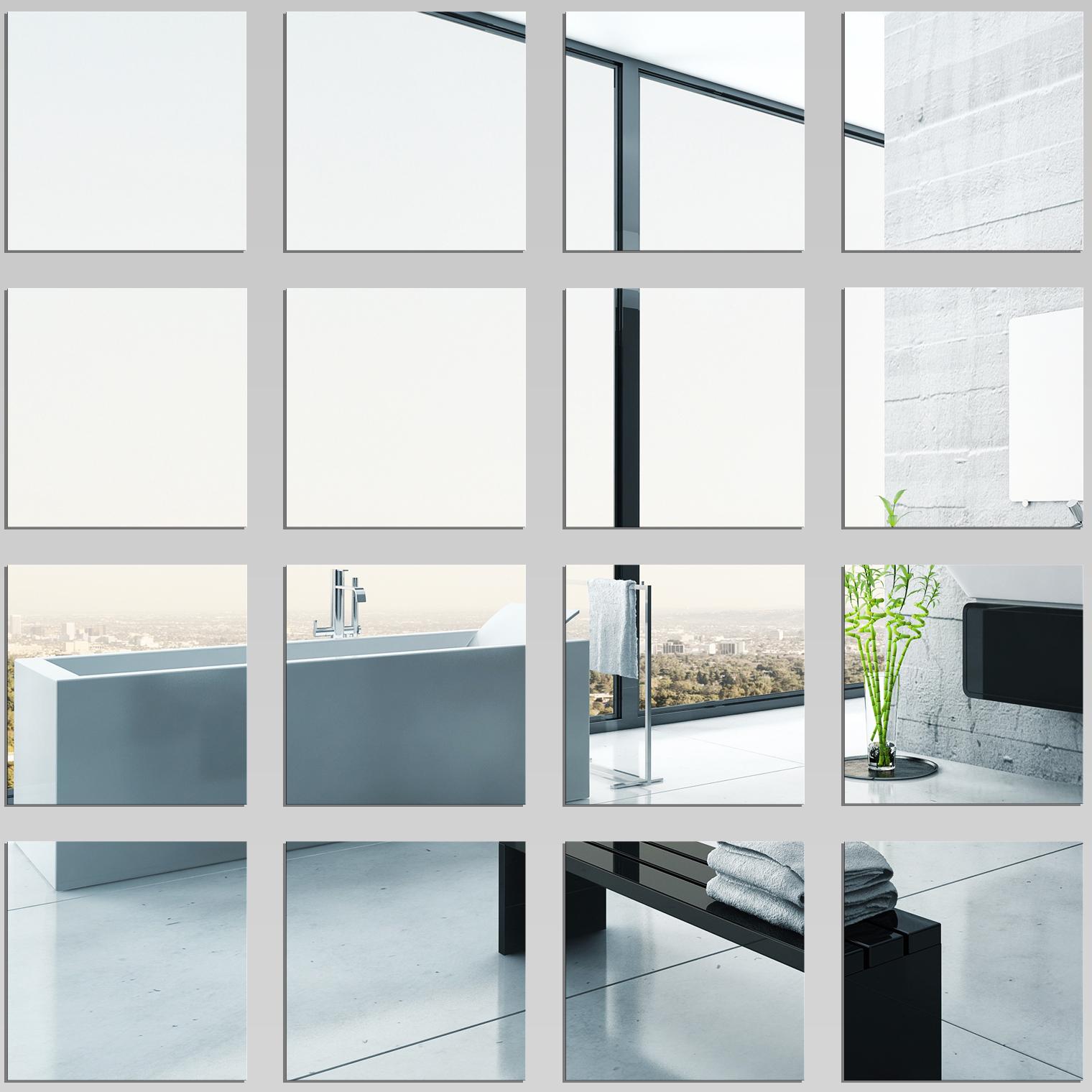 K p fyrkantig spegel v gg klisterm rken 15 15 cm 9 st f rp for Ikea specchi adesivi