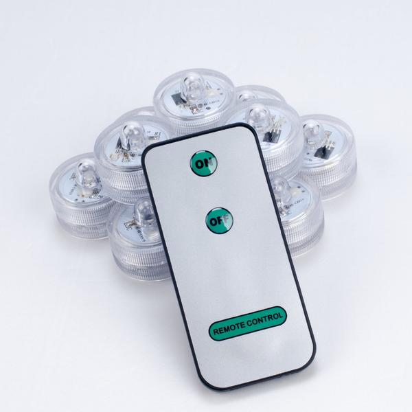 Attraktiva Köp 10 st/förp Mini LED lampor vattentät med 1 fjärrkontroll nu DA-97